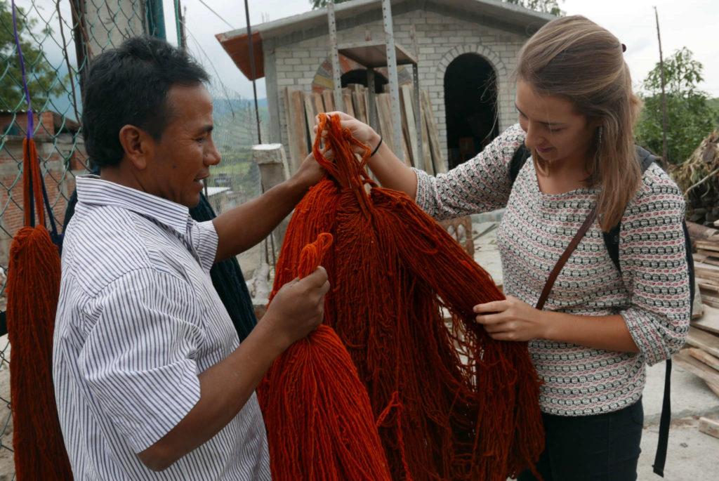 Naturally Dyed Wool Teotitlan