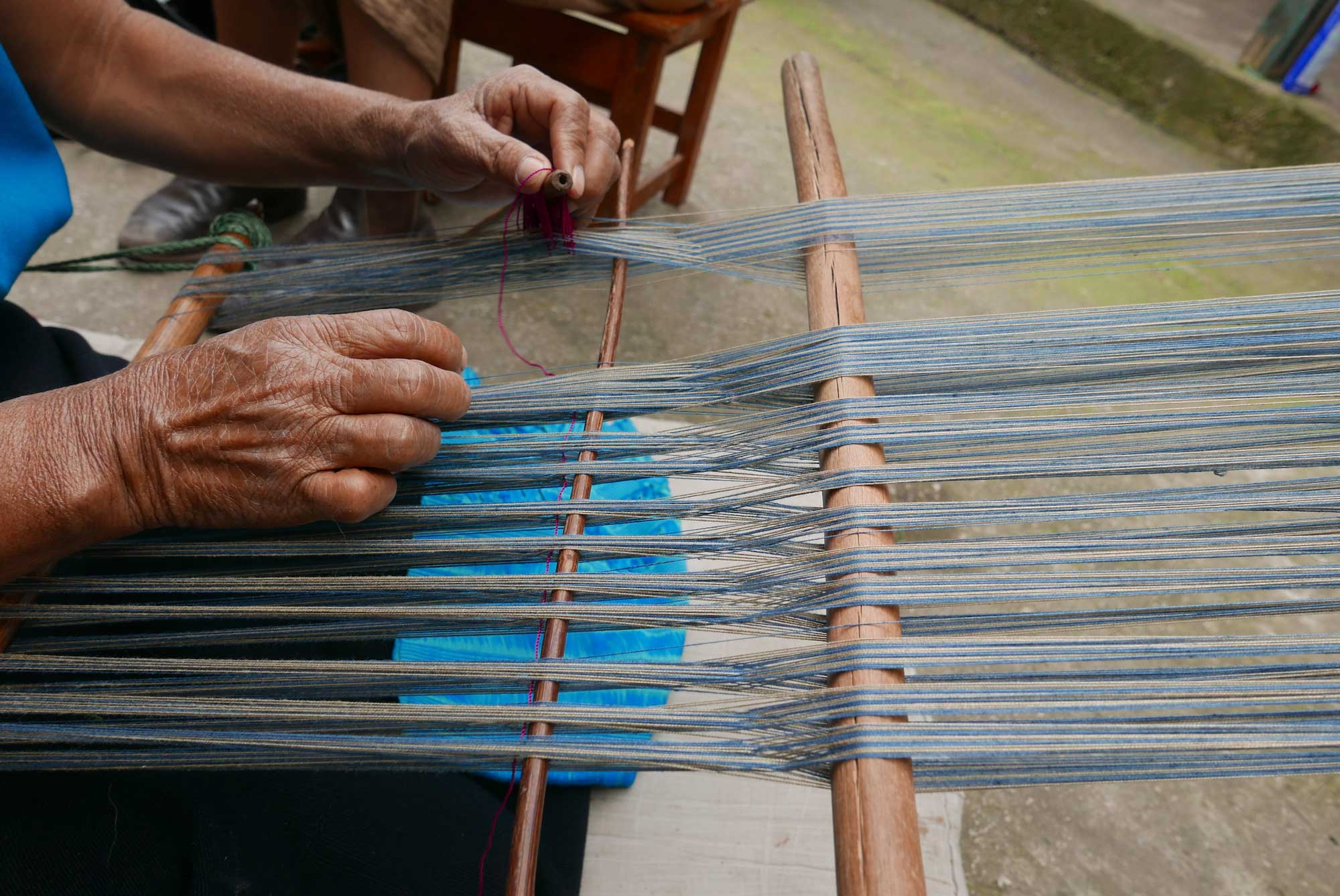 Artisan Backstrap Weaving Cotton Textiles Chiapas Mexico