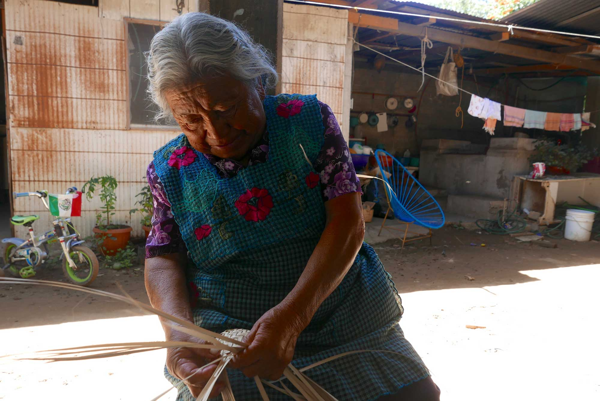 Artisan Palm Weaving Baskets Canastas Oaxaca Mexico