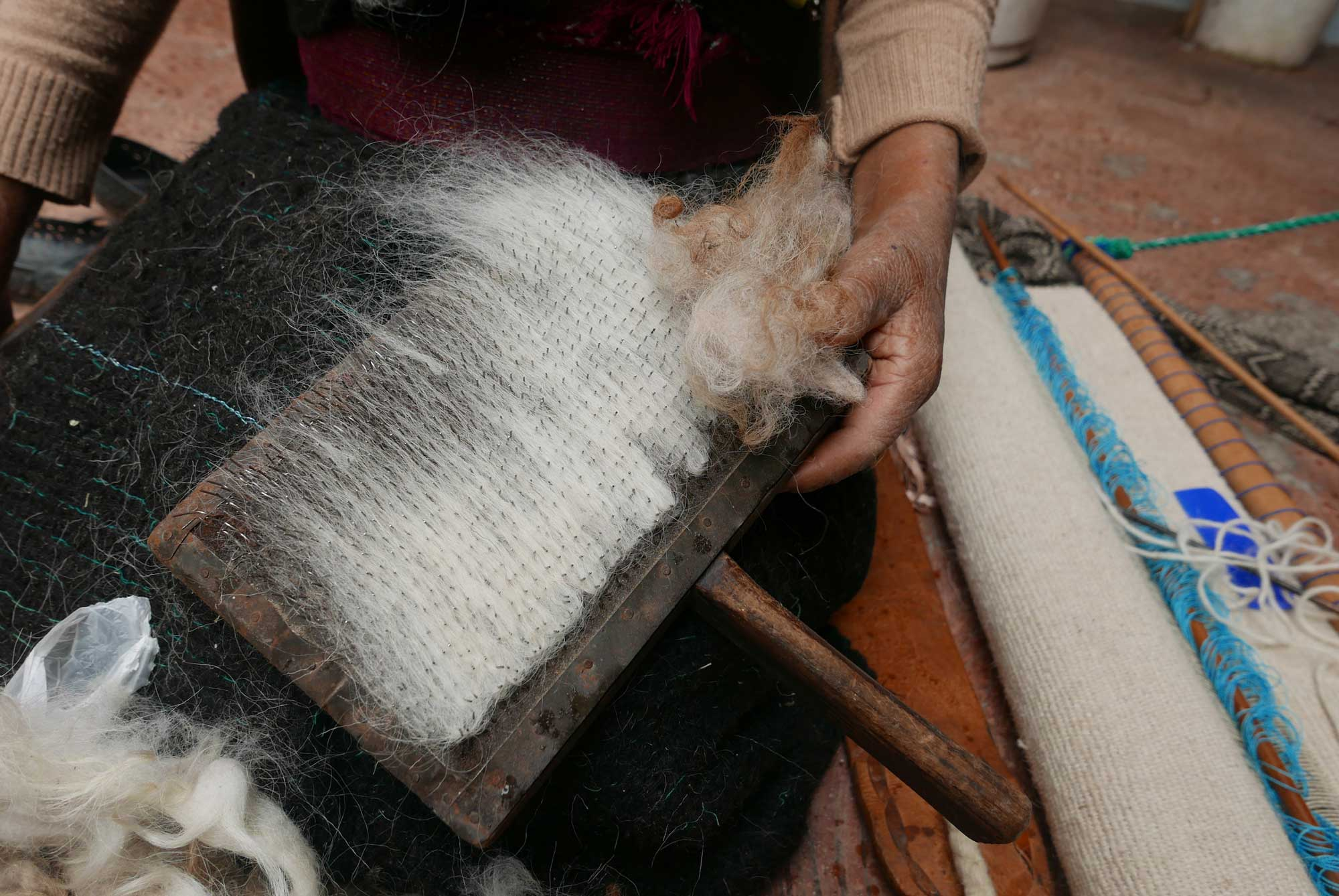 Artisan Backstrap Weaving Wool Textiles Chiapas Mexico