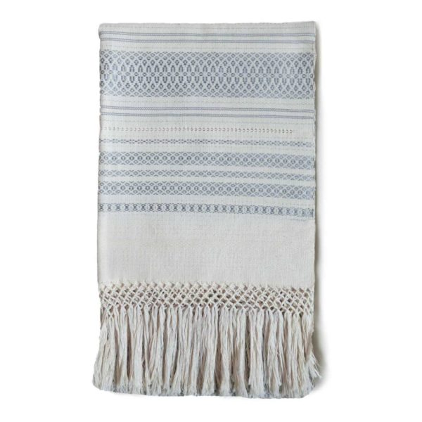 Mexican Grey Greca Table Runner - www.nidocollective.com #tablerunner #handmade #mexicantablerunner