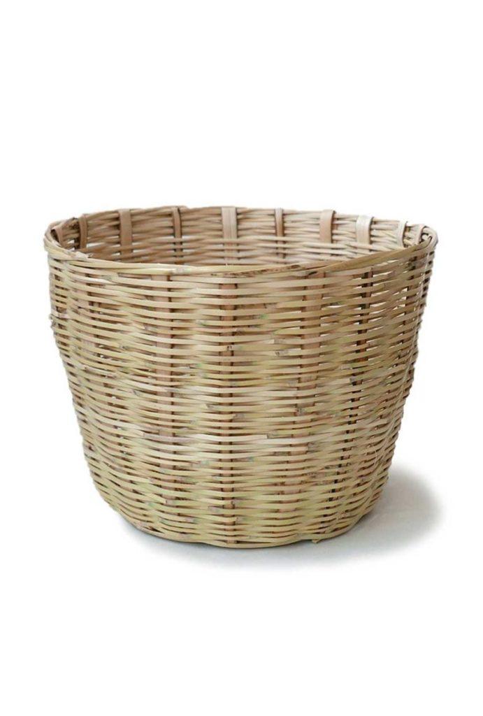 Handwoven Mexican Large Carrizo Storage Basket - www.nidocollective.com #mexicanbasket #planter #carrizobasket #storagebasket