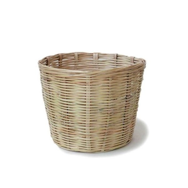 Handwoven Mexican Small Carrizo Storage Basket - www.nidocollective.com #mexicanbasket #planter #carrizobasket #storagebasket