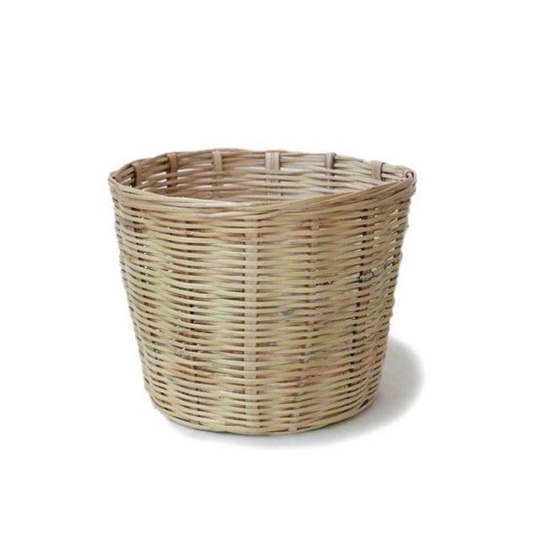 Handwoven Mexican Small Carrizo Storage Basket - www.nidocollective.com #mexicanbasket #planter #carrizobasket #storagebasket