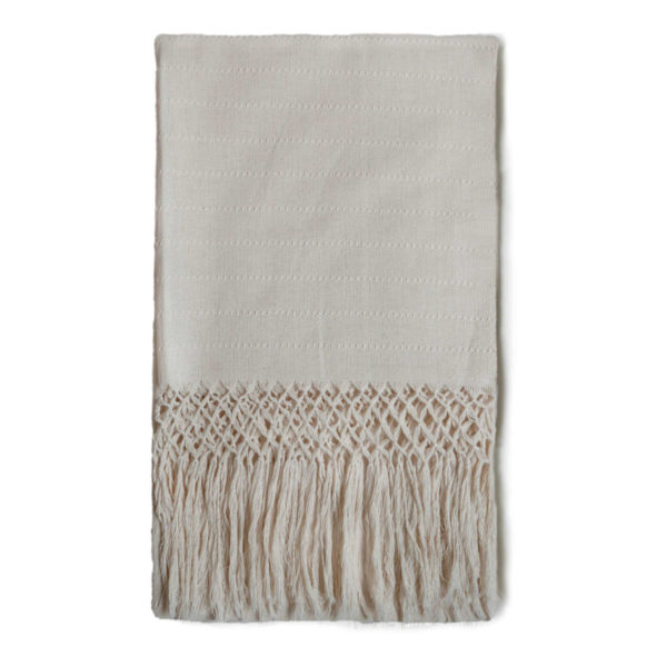 Mexican Cream Tassel Table Runner