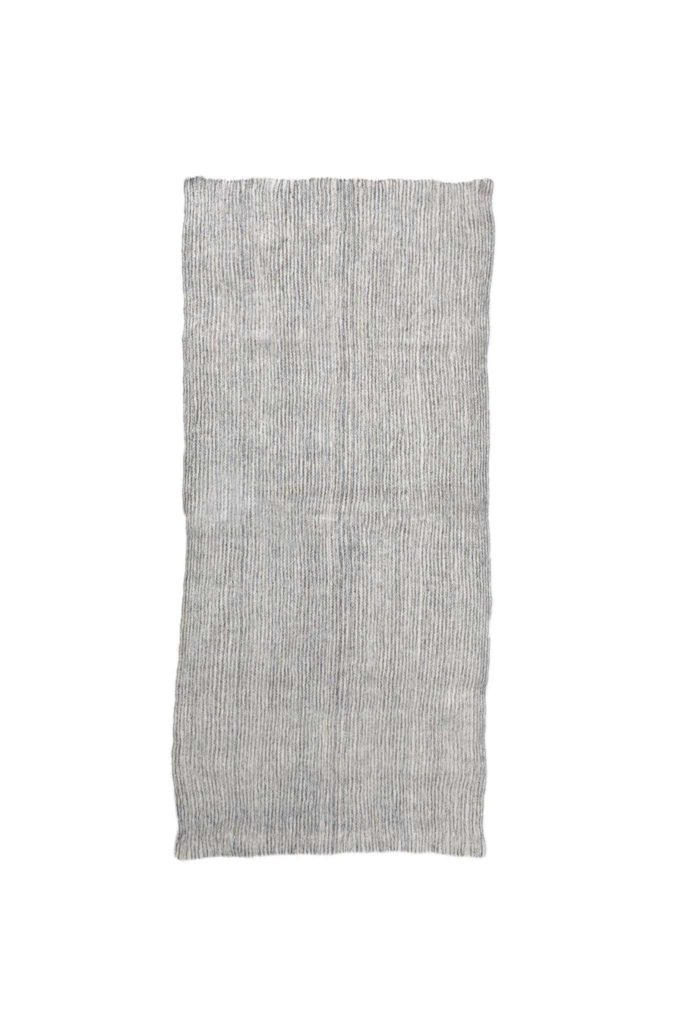 Light Stripe Mexican Wool Rug - www.nidocollective.com #mexicanrug #backstrapweaving