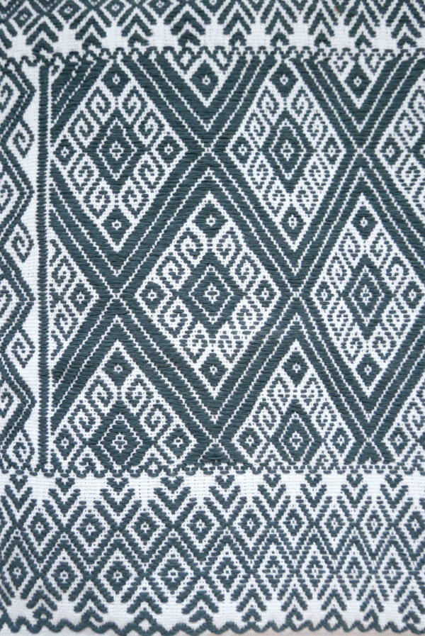 Mexican Grey San Andres Cushion - www.nidocollective.com #embroideredcushion #backstrapweaving #mexicancushion