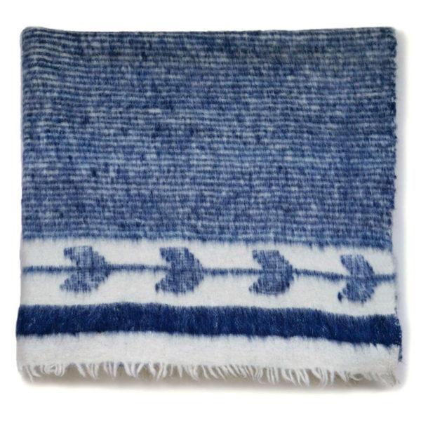 Indigo Momostenango Blanket Altos Blanket - www.nidocollective.com #guatemalanblanket #momostenango