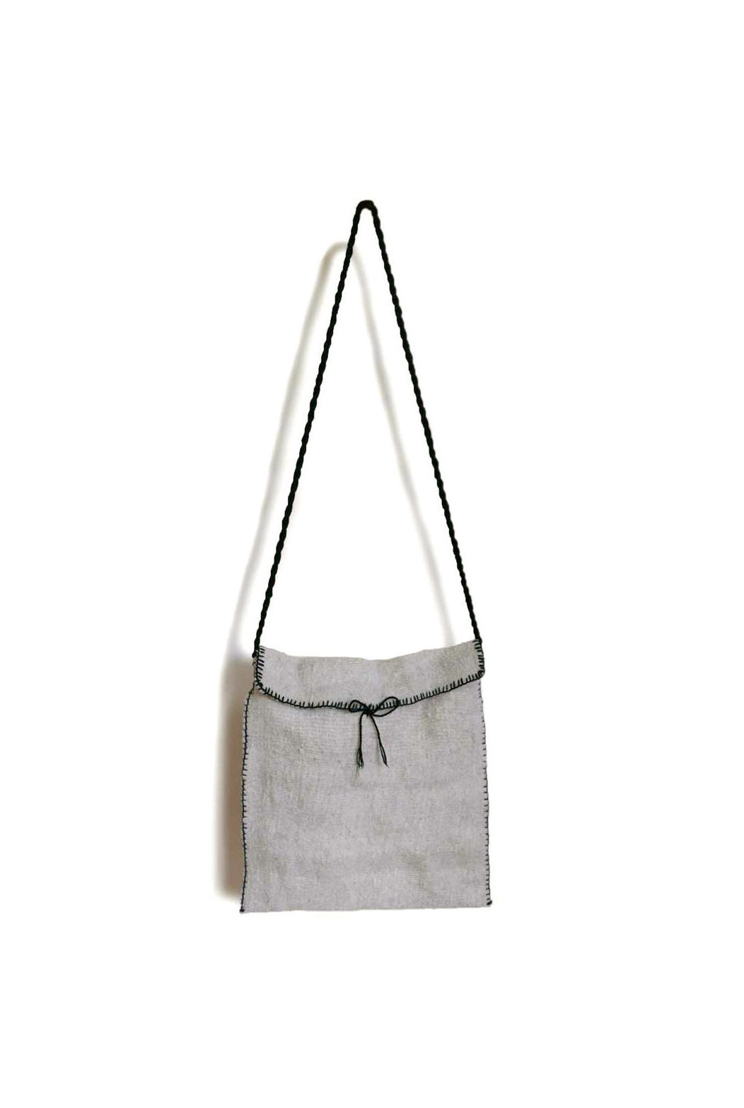 Cream Lana Wool Cross Body Bag - www.nidocollective.com #woolbag #backstrapweaving #mexicanhandmade #mexicanbag