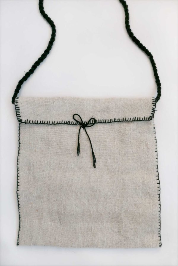 Cream Lana Wool Cross Body Bag