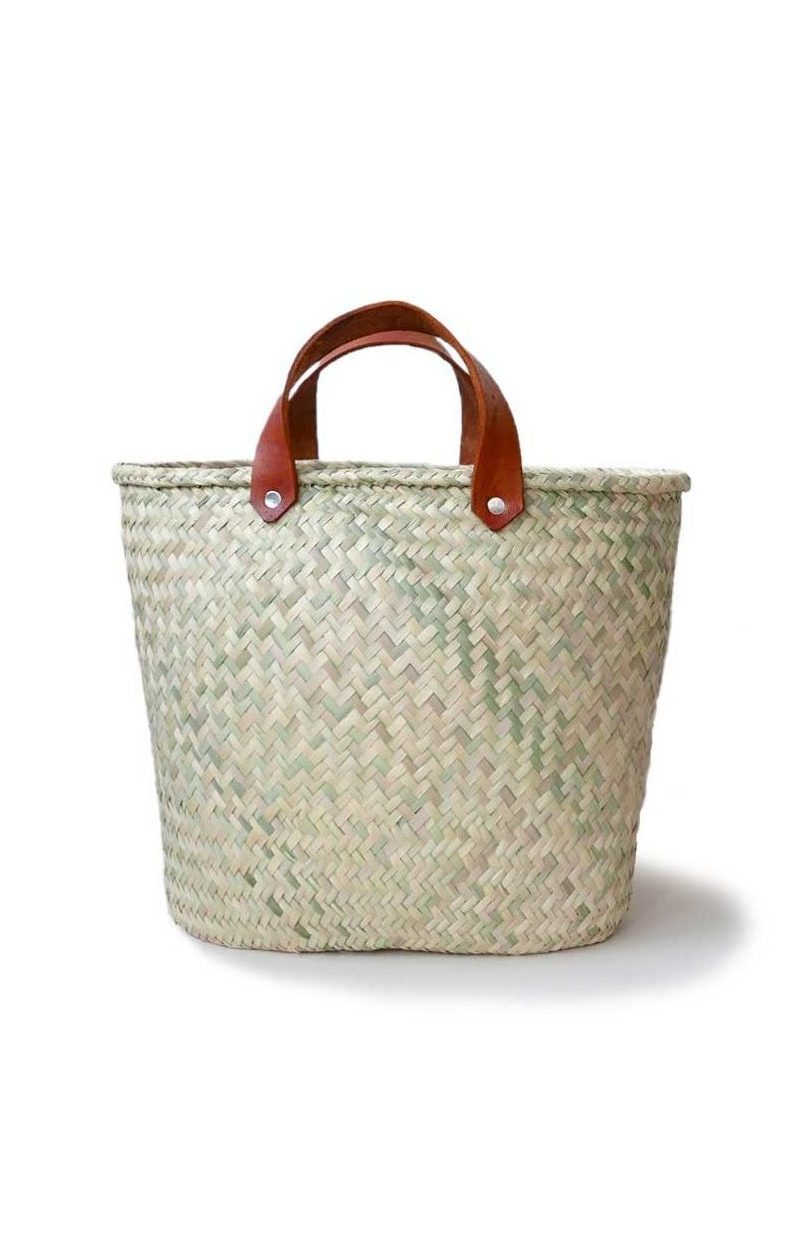 Mexican Large Palma Basket Bag - www.nidocollective.com #basketbag #palmweaving #palmbag #mexicanbag