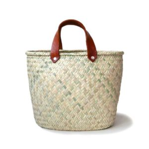 Mexican Medium Palma Basket Tote Bag - www.nidocollective.com #basketbag #palmweaving #palmbag #mexicanbag