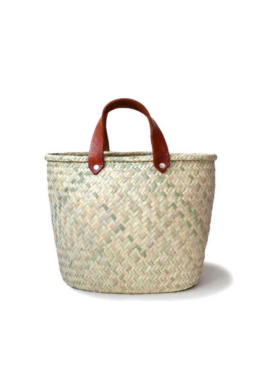 Mexican Medium Palma Basket Bag - www.nidocollective.com #basketbag #palmweaving #palmbag #mexicanbag