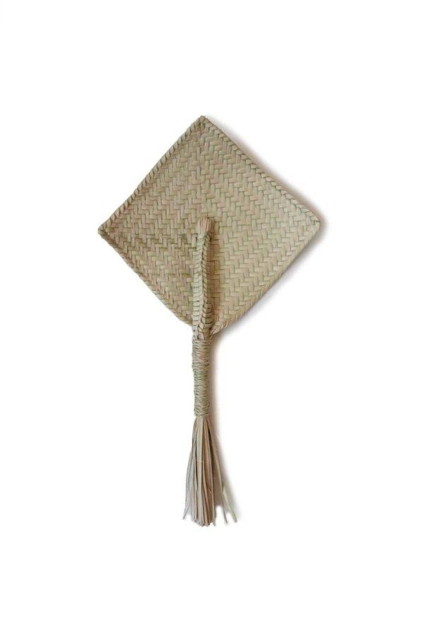Palm Fan - www.nidocollective.com #palmfan #palmweaving
