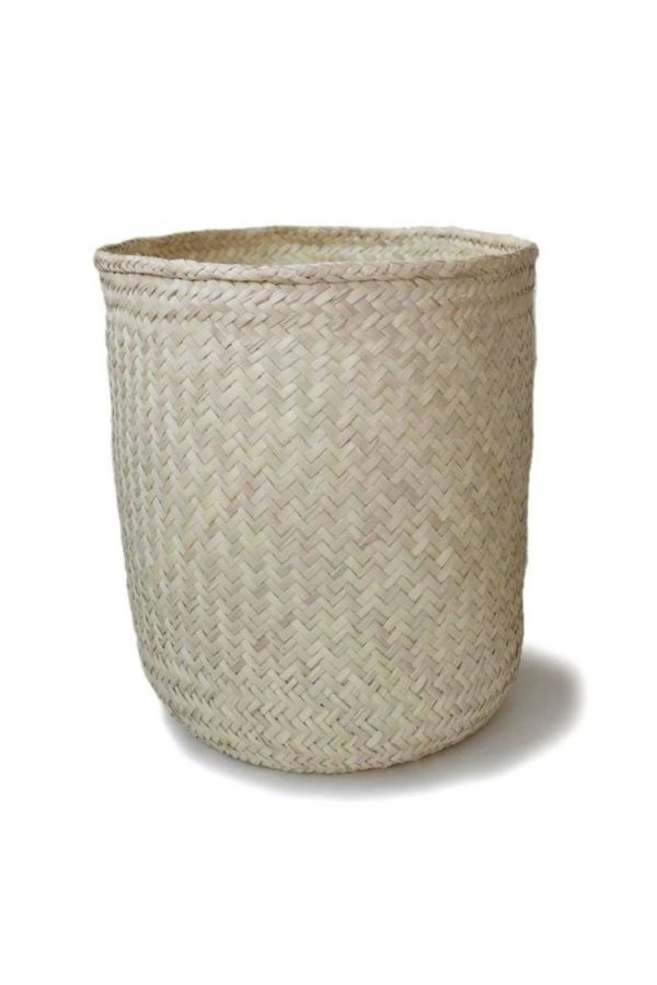 Extra Large Handmade Palm Storage Basket - www.nidocollective.com #extralargebasket #palmweaving #palmbasket #storagebasket