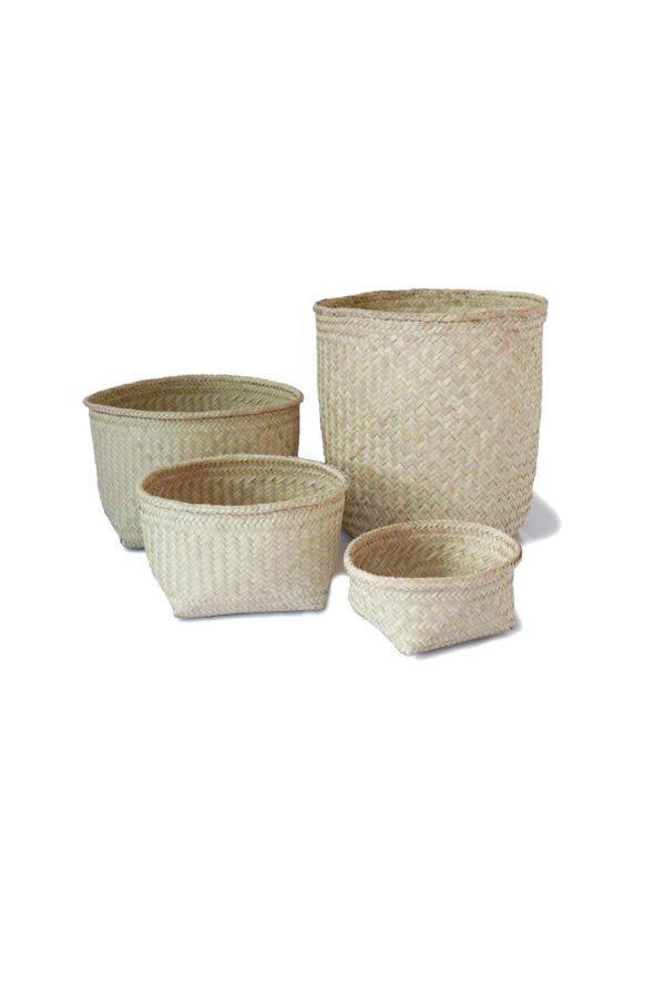 Handmade Mexican Palm Storage Basket - www.nidocollective.com #mexicanbasket #palmweaving #palmbasket #storagebasket