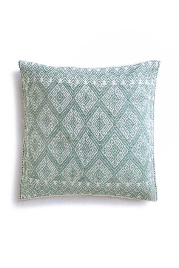 Handwoven Cushion - www.nidocollective.com #embroideredcushion #backstrapweaving #mexicancushion