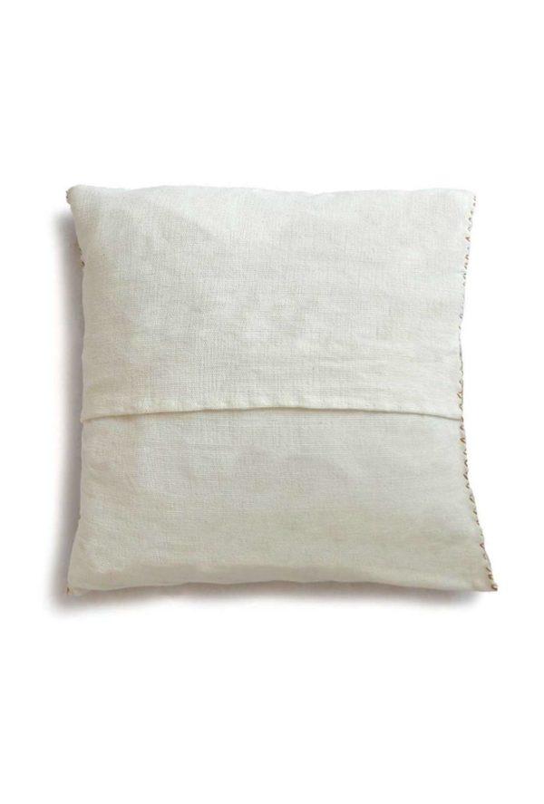 Mexican Mustard San Andres Cushion - www.nidocollective.com #embroideredcushion #backstrapweaving #mexicancushion