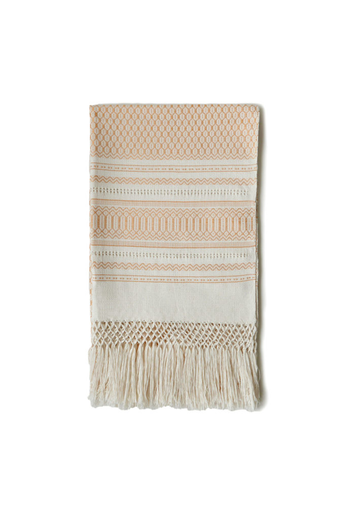 Mexican Yellow Greca Table Runner - www.nidocollective.com #tablerunner #handmade #mexicantablerunner