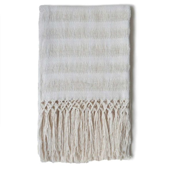 Cream Zinacantan Tassle Table Runner - www.nidocollective.com #tablerunner #backstrapweaving #mexicantablerunner