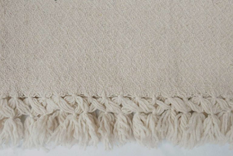 Mexican Cream Wool Rebozo Throw - www.nidocollective.com #mexicantextiles #woolthrow