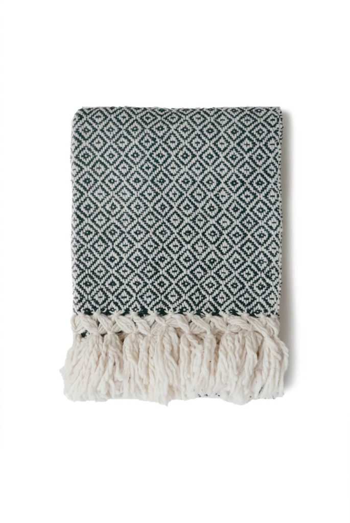 Mexican Black Wool Rebozo Throw - www.nidocollective.com #mexicantextiles #woolthrow