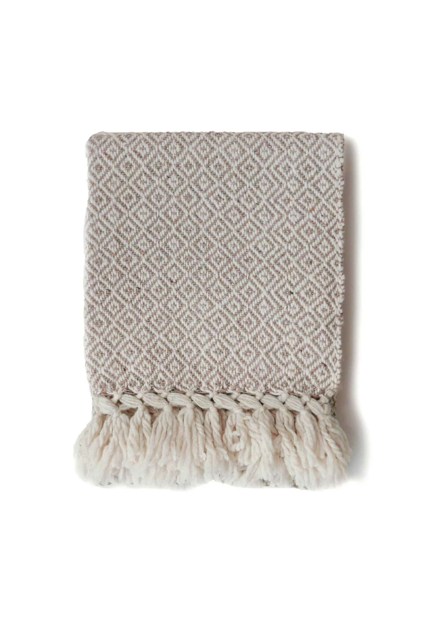 Mexican Neutral Wool Rebozo Throw - www.nidocollective.com #mexicantextiles #woolthrow