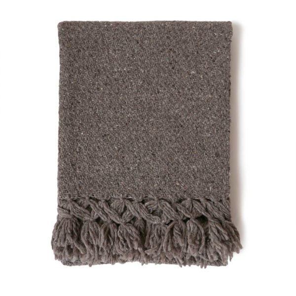 Mexican Tobacco Wool Rebozo Throw - www.nidocollective.com #mexicantextiles #woolthrow