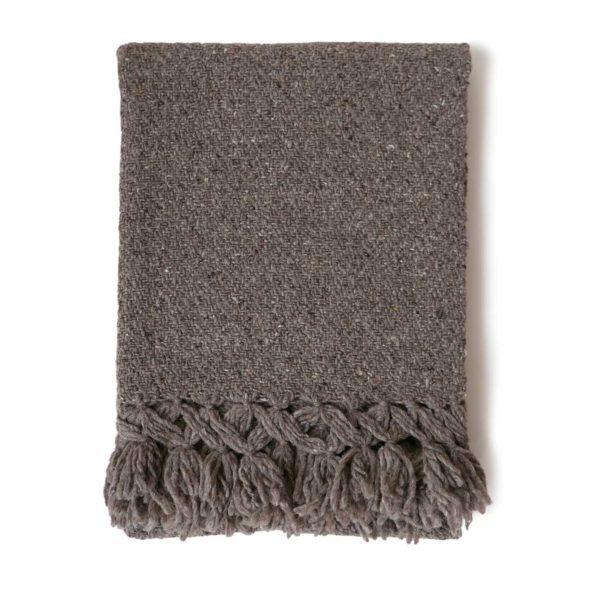 Mexican Tobacco Wool Rebozo Throw - www.nidocollective.com #mexicantextiles #woolthrow