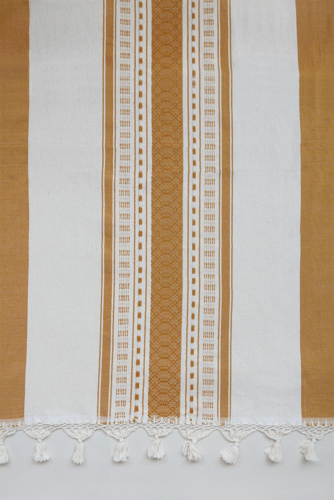 Mexican Mustard Bedspread - www.nidocollective.com #bedspread #handmade #mexicanbedspread
