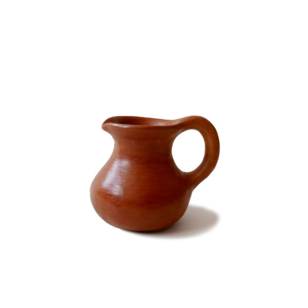 Mexican Barro Rojo Red Clay Ceramic Milk Jug - www.nidocollective.com #barrorojo #mexicanceramics #redclaypottery #terracottajug