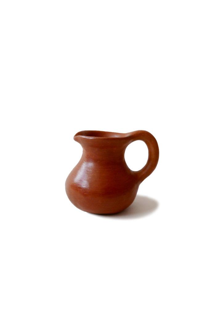 Mexican Barro Rojo Red Clay Ceramic Milk Jug - www.nidocollective.com #barrorojo #mexicanceramics #redclaypottery #terracottajug