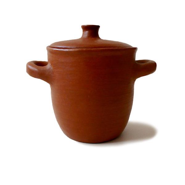 Mexican Barro Rojo Red Clay Ceramic Pot with Lid - www.nidocollective.com #barrorojo #mexicanceramics #redclaypottery #terracottapot