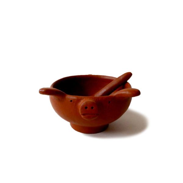 Mexican Barro Rojo Red Clay Ceramic Salsa Bowl - www.nidocollective.com #barrorojo #mexicanceramics #redclaypottery #terracottasalsabowl