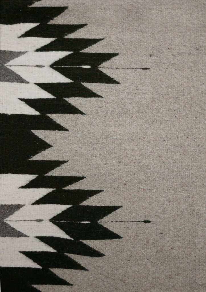 Large Zapotec Rug Close Up - www.nidocollective.com #mexicanrug #zapotecrug #teotitlandelvalle