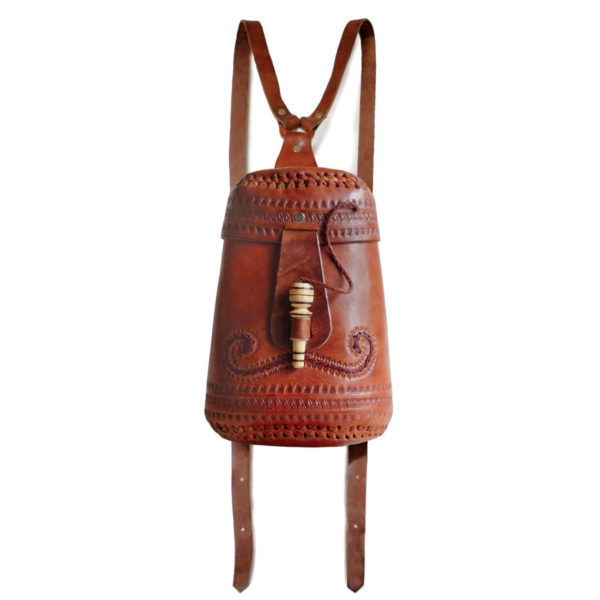 Leather Tambor Rucksack - www.nidocollective.com #leatherrucksack #festivalrucksack #tamborrucksack #ethicalaccessories