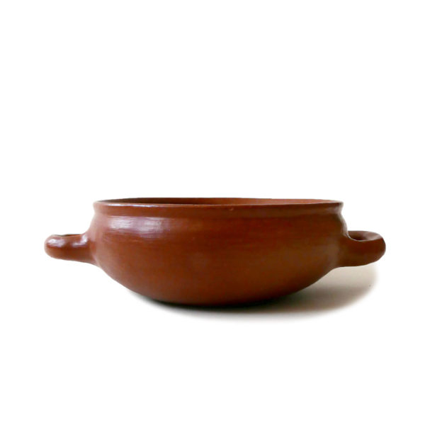 Mexican Barro Rojo Red Clay Ceramic Bowl with Handles - www.nidocollective.com #barrorojo #mexicanceramics #redclaypottery #terracottabowl