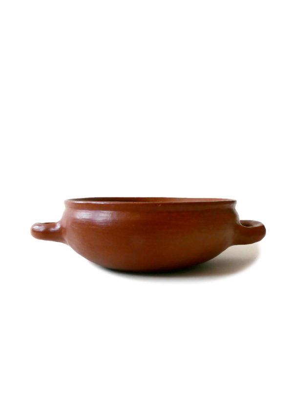 Mexican Barro Rojo Red Clay Ceramic Bowl with Handles - www.nidocollective.com #barrorojo #mexicanceramics #redclaypottery #terracottabowl