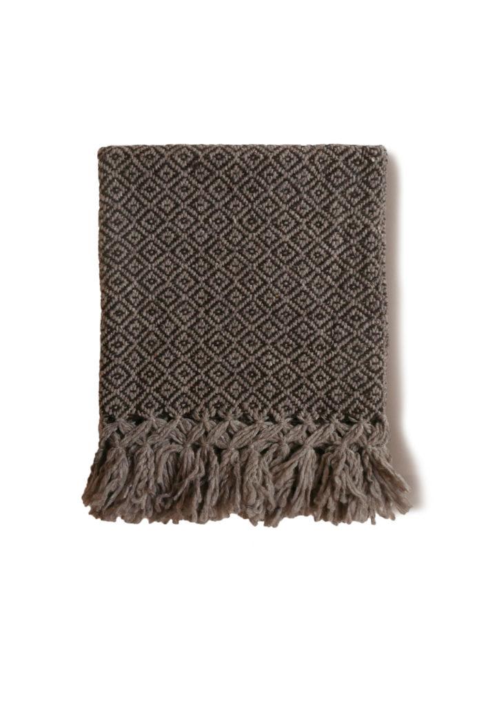 Mexican Coffee Wool Rebozo Throw - www.nidocollective.com #mexicantextiles #woolthrow
