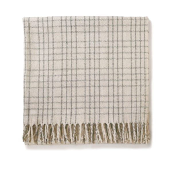Cream Check Virgin Wool Throw - www.nidocollective.com #mexicanblanket #virginwoolthrow #virginwoolblanket