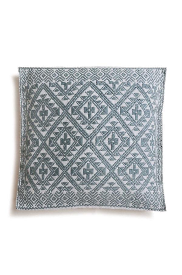 Chiapas Cushion - www.nidocollective.com #embroideredcushion #backstrapweaving #mexicancushion