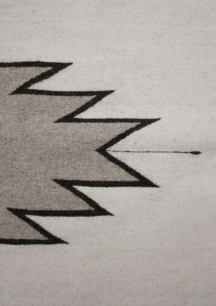 Destello Mexican Rug Close Up - www.nidocollective.com #mexicanrug #zapotecrug #teotitlandelvalle