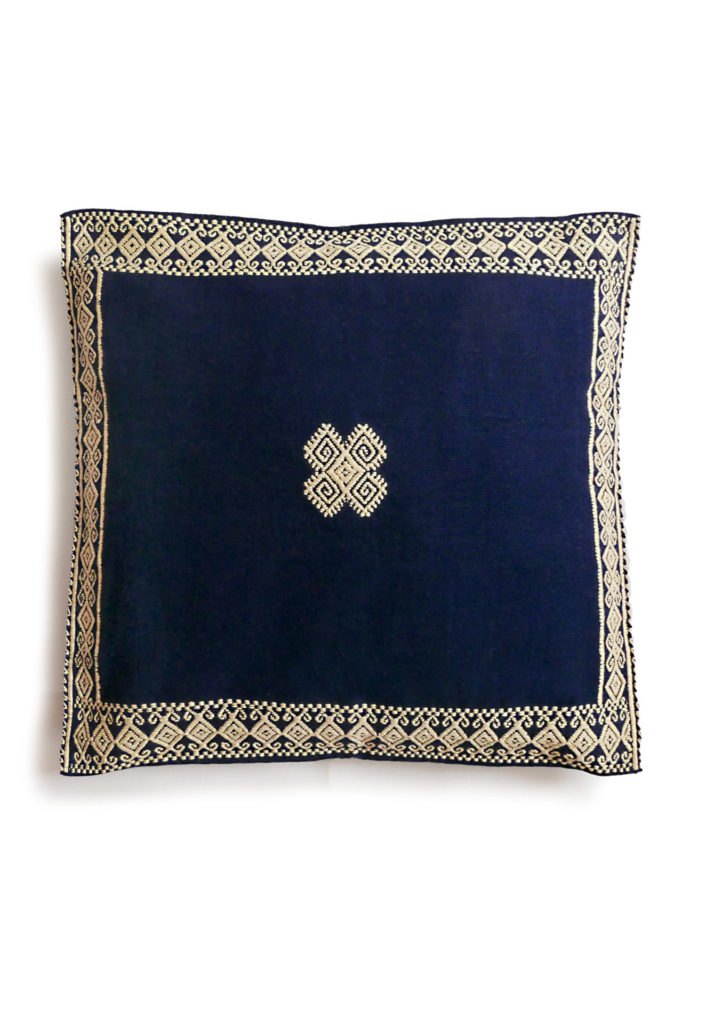 Mexican Navy San Andres Cushion - www.nidocollective.com #embroideredcushion #backstrapweaving #mexicancushion