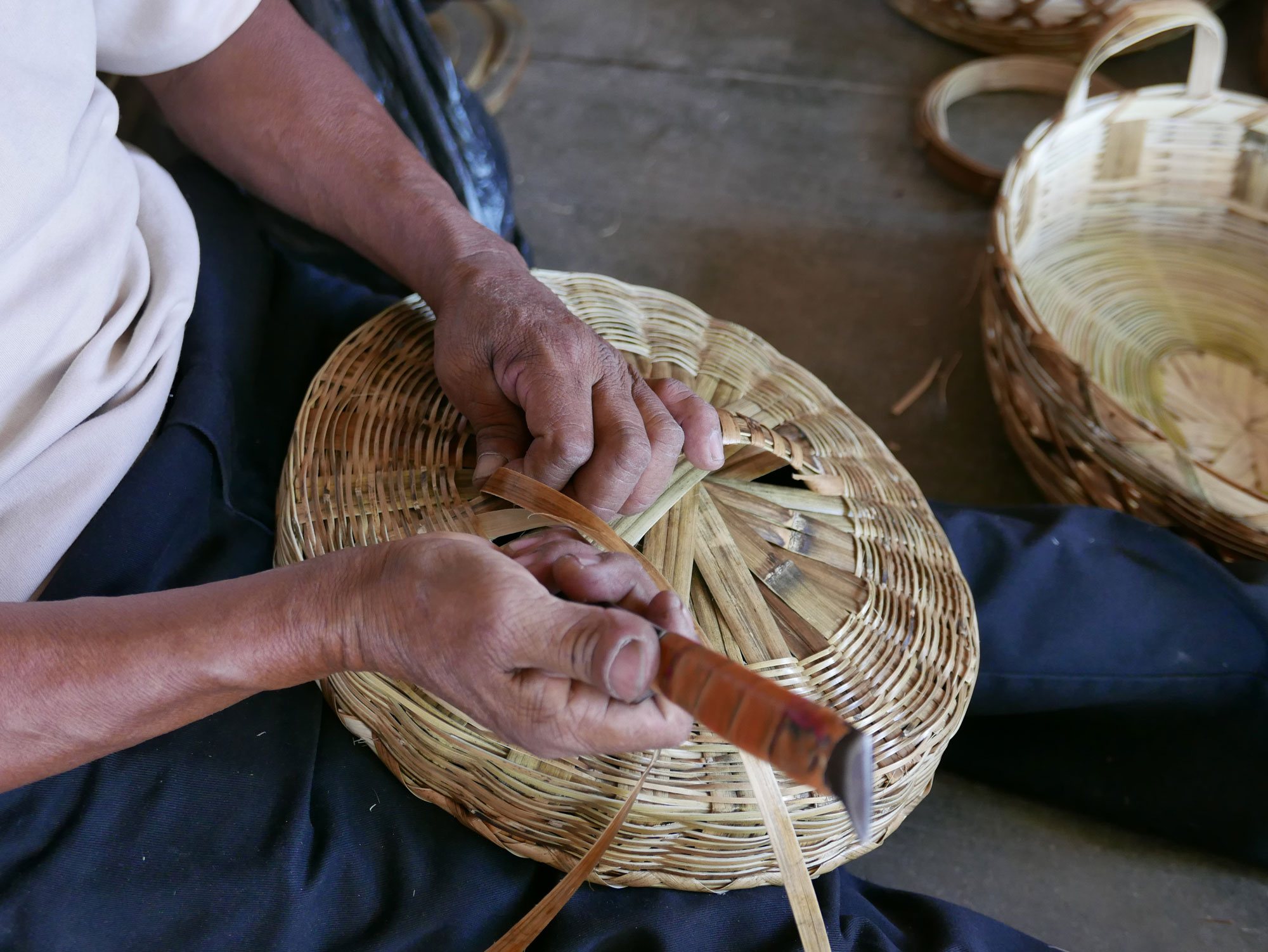 How to Weave a Basket in Oaxaca Mexico - www.nidocollective.com/carrizoweaving #carrizo #canastascarrizo #basketweaving