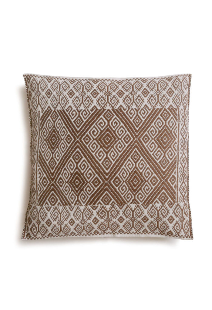 Mexican Hazel San Andres Cushion - www.nidocollective.com #embroideredcushion #backstrapweaving #mexicancushion
