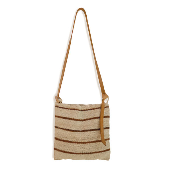 Stripe Maguey Cross Body Bag - www.nidocollective.com #magueybag #maguey #crossbodybag #mexicanbag