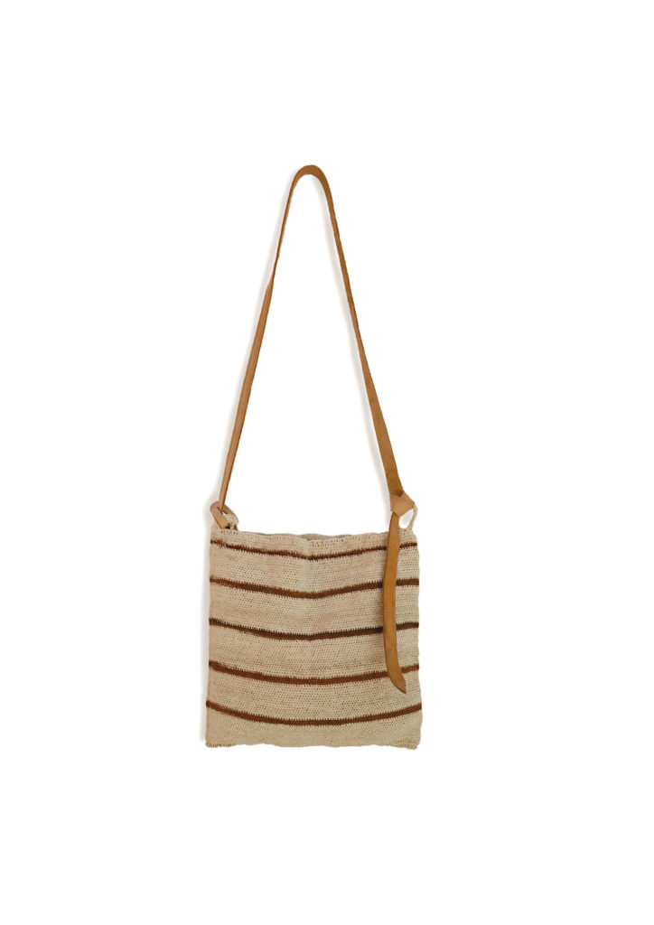 Stripe Maguey Cross Body Bag - www.nidocollective.com #magueybag #maguey #crossbodybag #mexicanbag