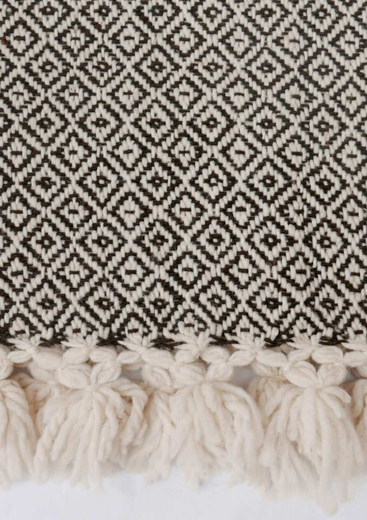 Mexican Dark Brown Wool Rebozo Throw - www.nidocollective.com #mexicantextiles #woolthrow