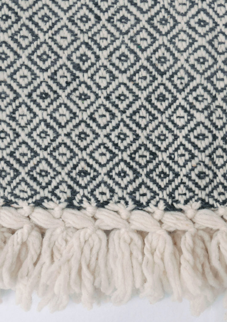Mexican Charcoal Wool Rebozo Throw - www.nidocollective.com #mexicantextiles #woolthrow