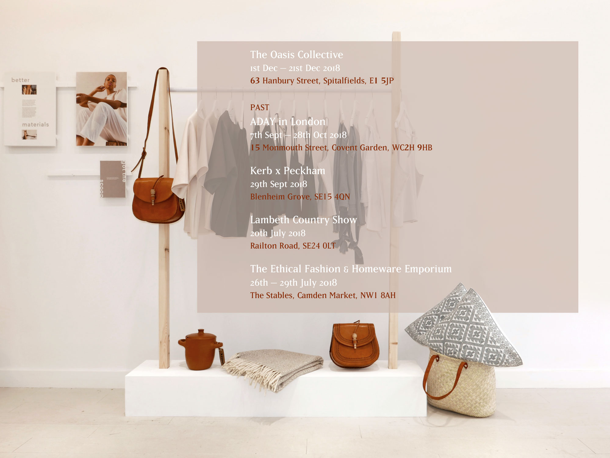 Ethical Pop Ups in London, Nido Collective, Ethical Homewares & Accessories